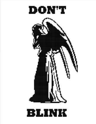 weeping angel cross stitch