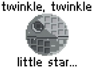 death star cross stitch