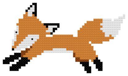 jumping fox cross stitch