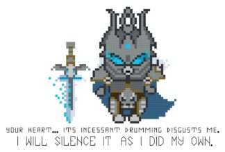 lich king cross stitch