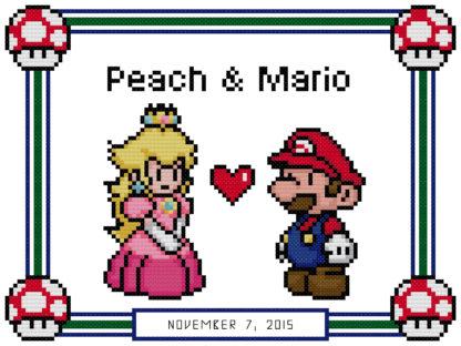 mario anniversary cross stitch