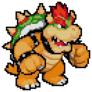 bowser cross stitch