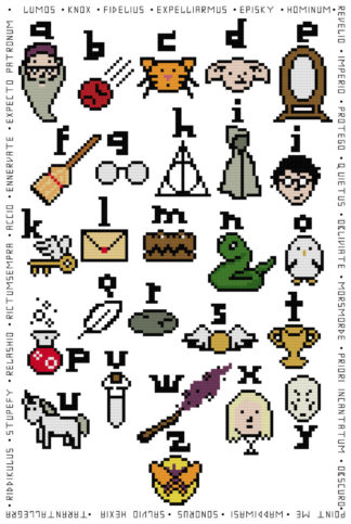 Harry Potter ABC Cross Stitch Pattern